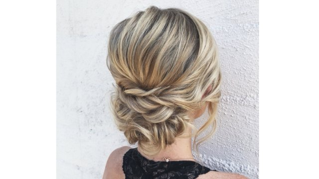 Classic Bridal Updo with Full Prep