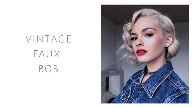 Vintage Faux Bob
