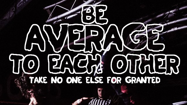 GOOD Wrestling #17 : Be Average To Each Other MYSTERY SHOW (21/09/2019)