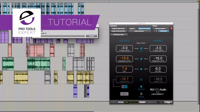 How To Use LM-Correct 2 From Nugen Audio To Deliver To Different Loudness Specs