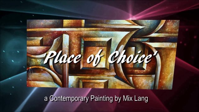 3D Texture Painting 'Place of Choice'