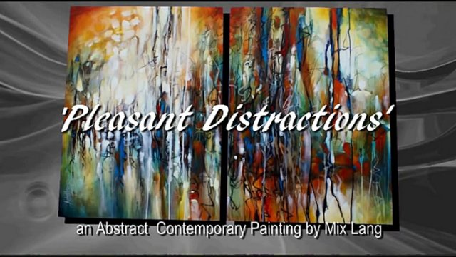 'Pleasant Distractions' Mix Lang Abstract Painting