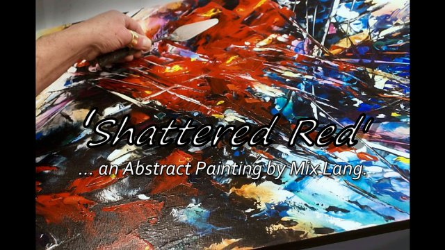 'Shattered Red' Abstract Palette Knife Art