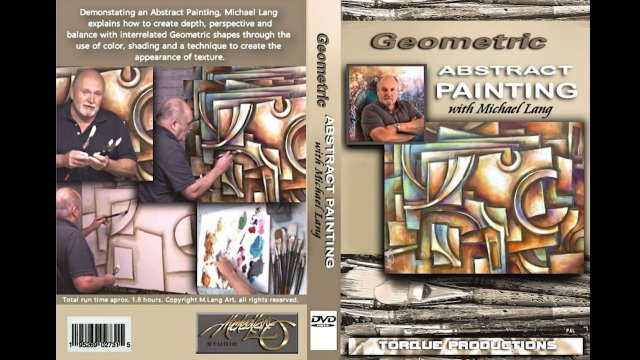 Painting DVD Geometric Abstract  with Mix Lang