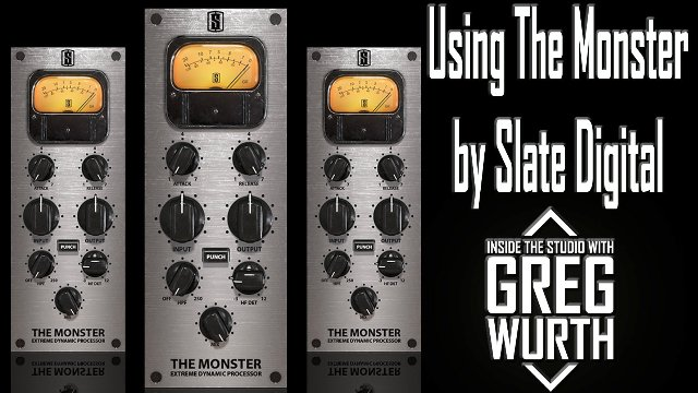 Using The Monster by Slate Digital on Drums