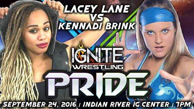 IGNITE Wrestling:  Lacey Lane vs Kennadi Brink