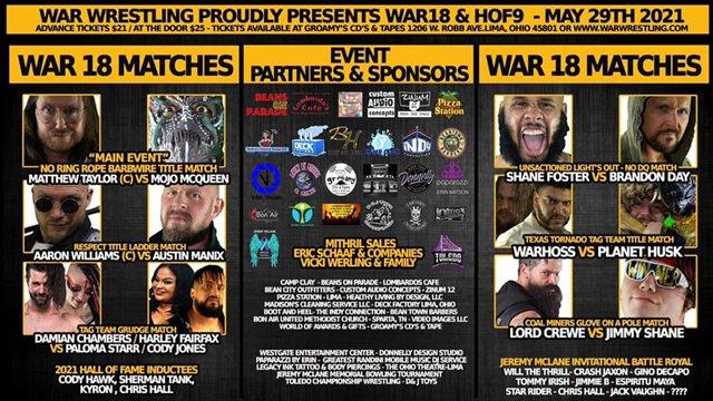 WAR Wrestling Presents WAR 18