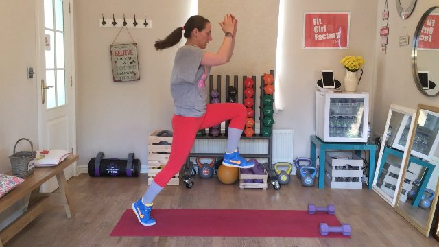 010 - Plank Rows and Push Off Lunge
