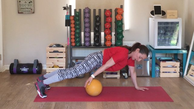 029 - Plank and Ball Push and Jack and Knee Raise
