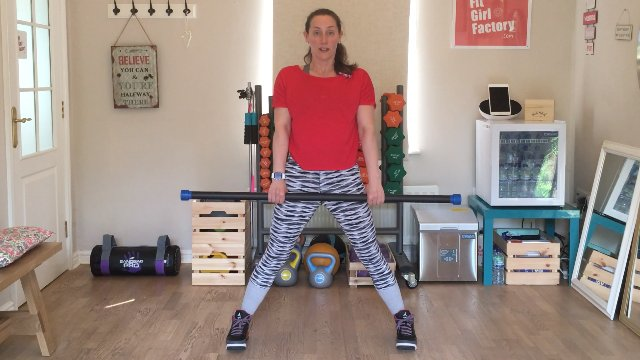035 - Wide Stance Deadlifts and Core Punches