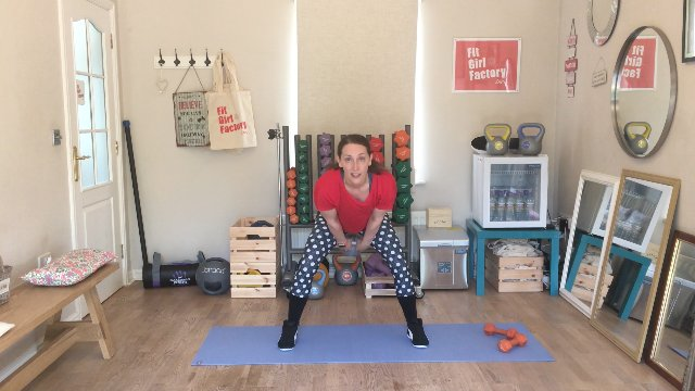 069 - Seated Punches and Kettlebell Jumps