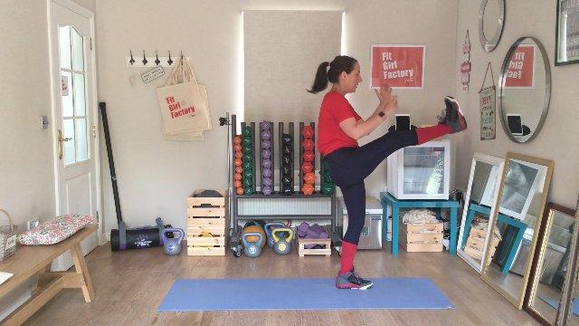 076 - Kneeling Power Press and Lunge Jump Kicks