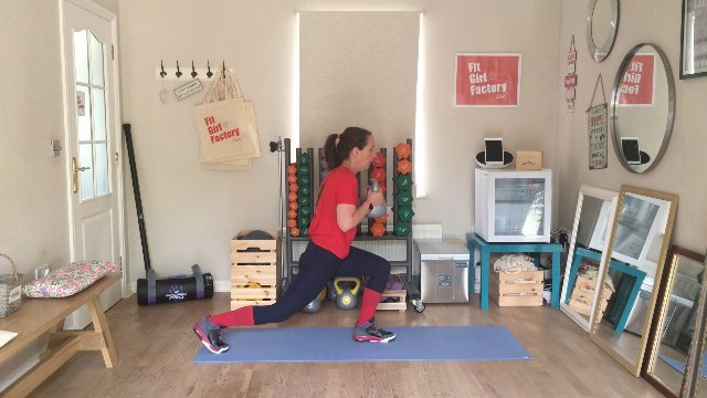 077 - Seated Oblique Crunches and Deadlift Lunges