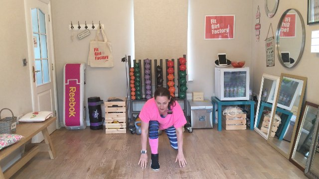 103 - Squat Lunge Step and Lunge Pops