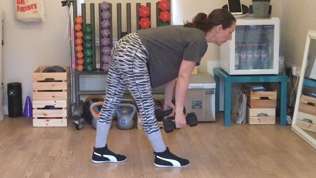 127 - Lunge Deadlift and Curl and Pound The Ground