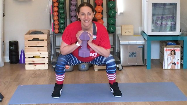 136 - Twisting Goblet Squat and Curl the Burpee