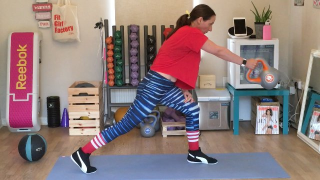 137 - Lunge, Row, Swing and Toe Taps