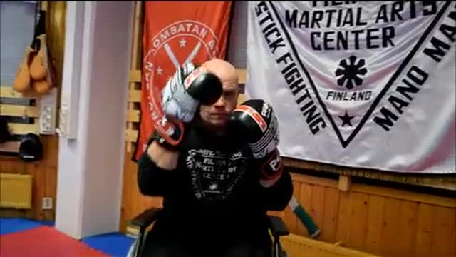 BOXING IN WHEELCHAIR