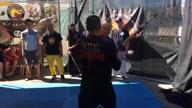 Demonstration at the Museum of Martial Arts History, USA