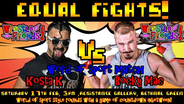 "XWA vs EVE ""Equal Fights!"" XWA Offer ""Word of Sport"" Match - Kosta K vs Rocky Mac"