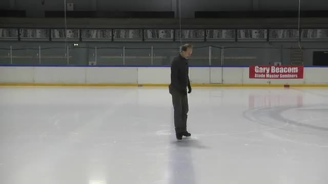 63.  Skating Figures-three turns, using the blade