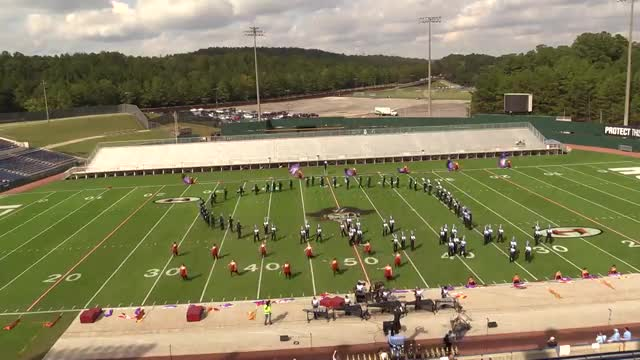 Spain Park High Band at 2013 Hoover Invitational MBF in Hoover, Alabama