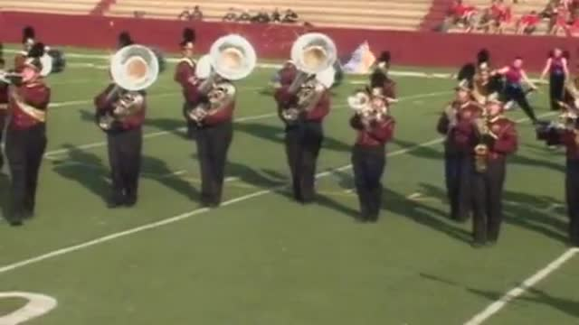 Robertsdale High Band at 2012 Heart of Dixie MBF in Prattville, Alabama