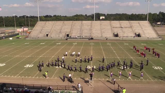 Blacksher High Band at 2013 Southern Showcase MBF in Dothan, Alabama WIDE ANGLE ONLY
