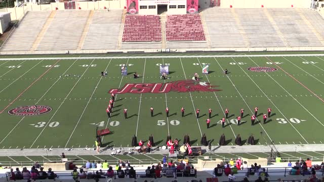 Ohatchee High Band at 2013 JSU Contest of Champions MBF in Jacksonville, Alabama WIDE ANGLE ONLY