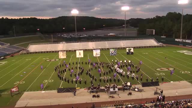 Central-Carroll High Band at 2013 Hoover Invitational MBF in Hoover, Alabama