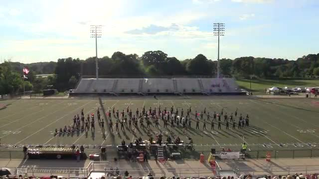 Russellville High Band at 2013 Mid South MBF in Gadsden, Alabama