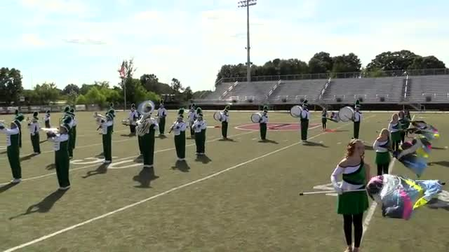 Hokes Bluff High Band at 2013 Mid South MBF in Gadsden, Alabama