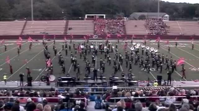 Fairhope High Band at 2012 Heart of Dixie MBF in Prattville, Alabama