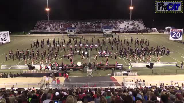 Albertville High Band at 2014 Mid South MBF in Gadsden, Alabama