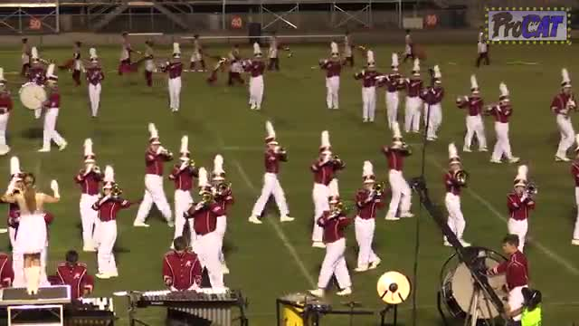 Hartselle High Band at 2014 North Alabama Night of Bands MBF in Somerville, Alabama