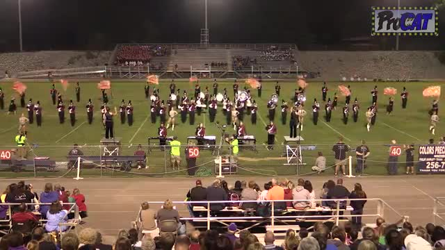 West Morgan High Band at 2014 North Alabama Night of Bands MBF in Somerville, Alabama