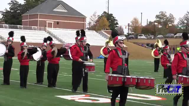 Lanier High Band at 2014 Georgia Marching Band Series Championship in Macon, Georgia