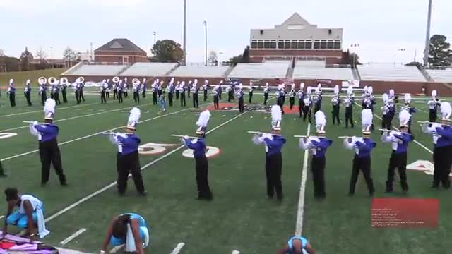 Bradwell Institute High Band at 2014 Georgia Marching Band Series Championship in Macon, Georgia