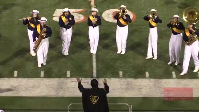 Jeff Davis High Band at 2014 Georgia Marching Band Series Championship in Macon, Georgia