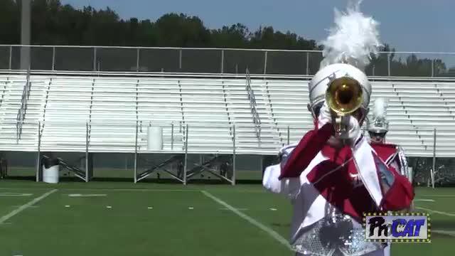 Deshler High Band at 2014 Hoover Invitational MBF in Hoover, Alabama