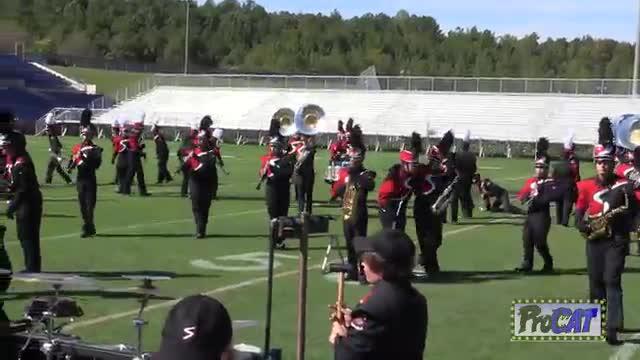 Signal Mountain High Band at 2014 Hoover Invitational MBF in Hoover, Alabama