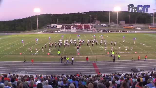 Montevallo High Band at 2015 Shelby County Showcase in Helena, Alabama