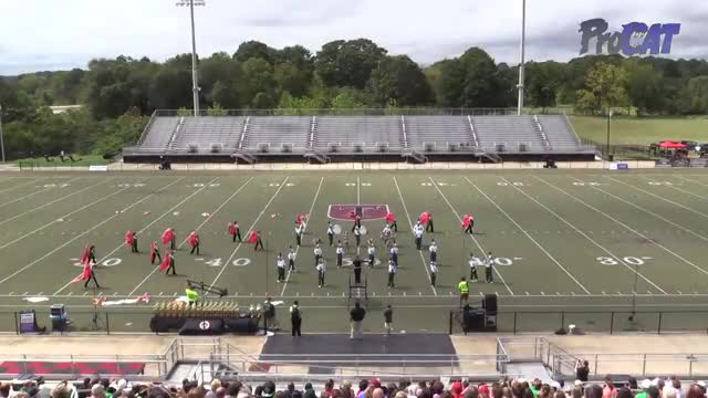Hokes Bluff High Band at 2015 Mid South MBF in Gadsden, Alabama