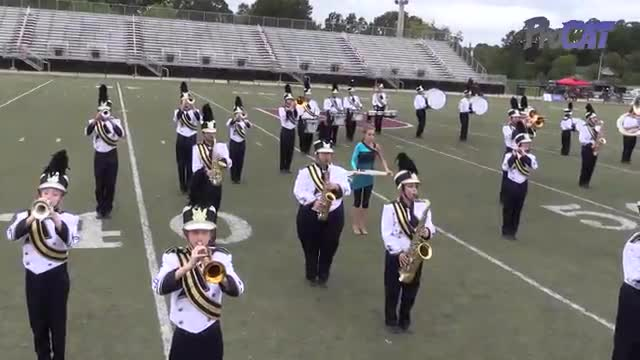 Briarwood Christian High Band at 2015 Mid South MBF in Gadsden, Alabama