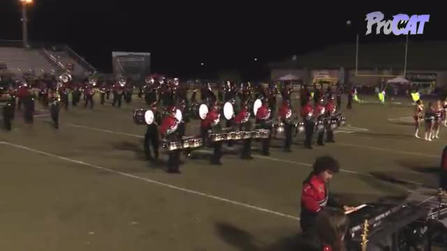 Albertville High Band at 2015 Mid South MBF in Gadsden, Alabama