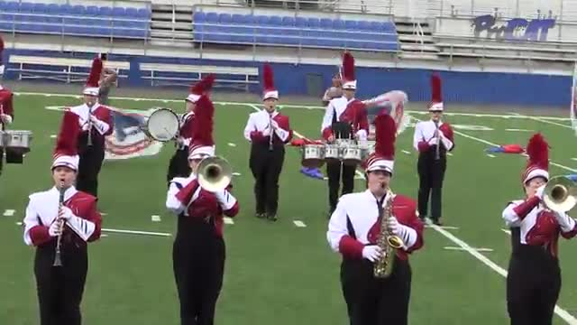 Haleyville High Band at 2015 Pride of Dixie MBF in Florence, Alabama
