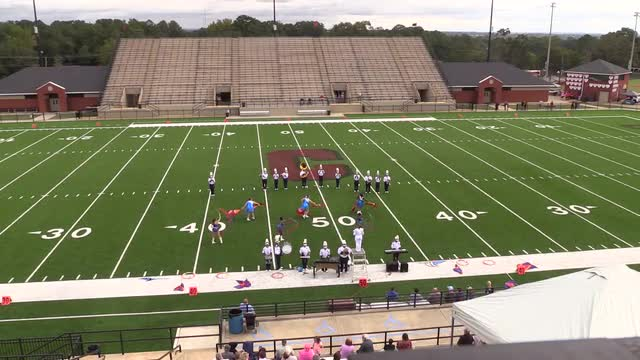 Manchester High Band at 2015 Phenix Invitational MBF in Phenix City, Alabama WIDE ANGLE ONLY