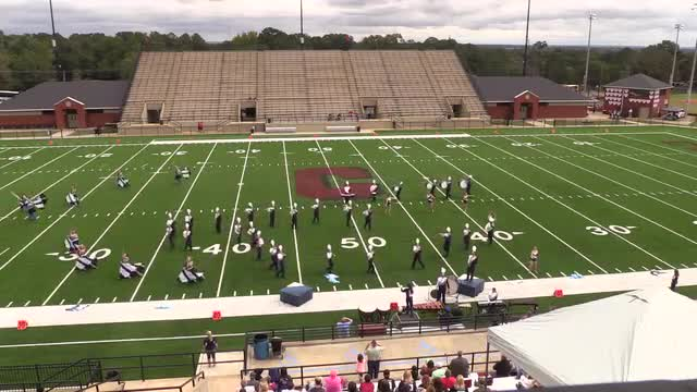 Taylor County High Band at 2015 Phenix Invitational MBF in Phenix City, Alabama WIDE ANGLE ONLY