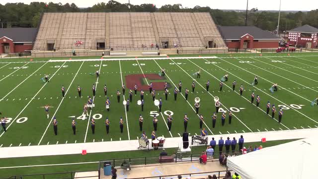 Beauregard High Band at 2015 Phenix Invitational MBF in Phenix City, Alabama WIDE ANGLE ONLY