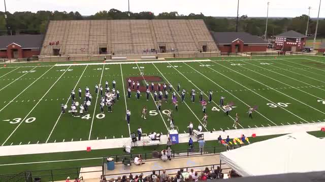 Reeltown High Band at 2015 Phenix Invitational MBF in Phenix City, Alabama WIDE ANGLE ONLY
